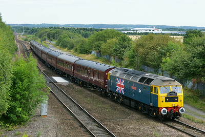 Class 47 No 47580 at Normanton on 7 August 2014 with the 1T39 10:15 York – Scarborough