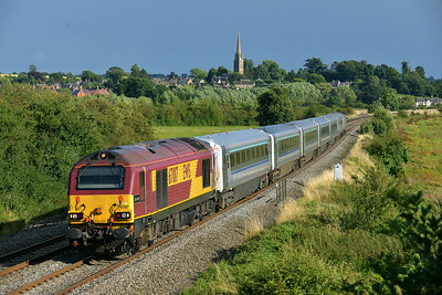 Class 67 No 67017 at Kings Sutton on 13 August 2014 with the 1R55 16:47 London Marylebone - Birmingham Moor Street
