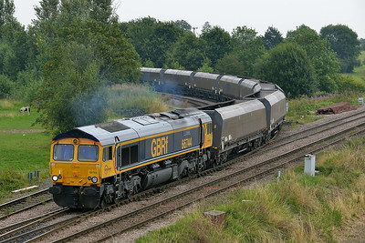 Class 66 No 66744 at Whitley Bridge on 1 August 2014 with the 4D18 12:14 Eggborough Power Station – Doncaster Down Decoy