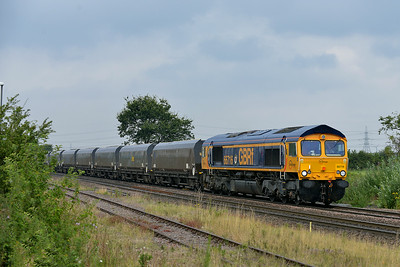 Class 66 No 66716 at Whitley Bridge on 8 August 2014 with the 6C09 08:45 Immingham H.I.T. – Eggborough Power Station