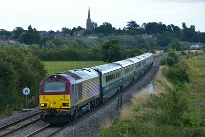 Class 67 No 67023 at Kings Sutton on 13 August 2014 with the 1U61 17:50 London Marylebone - Banbury