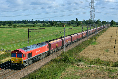 Class 66 No 66118 at Joan Croft Junction on 9 August 2014 with the 4D13 08:56 Milford West Sidings – Immingham Sorting Sidings