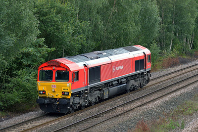 Class 66 No 66118 at Burton Salmon  on 7 August 2014 with the 0A47 12:22 Milford West Sidings – Knottingley T.M.D.
