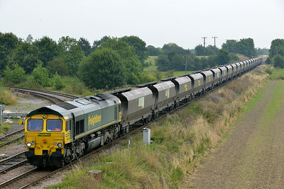 Class 66 No 66539 at Whitley Bridge on 1 August 2014 with the 4G11 12:20 Drax Power Station – Sudforth Lane Up Rs