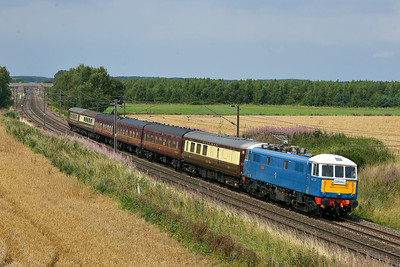 Class 86 No 86259 at Hambleton South Junction on 8 August 2014 with the 1Z57 10:03 Edinburgh – London Kings Cross