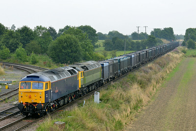 Class 47 No 47815/47812 at Whitley Bridge on 1 August 2014 with the 4D19 12:28 Drax Power Station – Doncaster Down Decoy