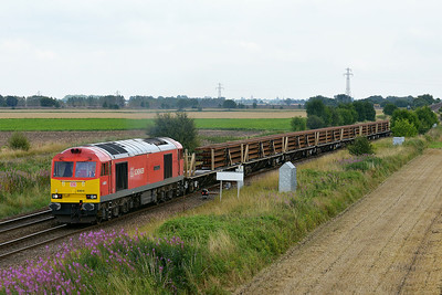 Class 60 No 60019 at Hambleton West Junction on 8 August 2014 with the 6N70 12:36 Doncaster Belmont Down Yard – Tyne S.S.