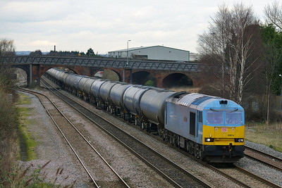 Class 60 No 60074 at Burton-on-Trent on 19 February 2014 with the 6M00 11:40 Humber Oil Refinery – Kingsbury Oil Sidings