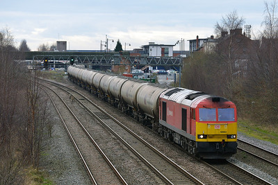 Class 60 No 60063 at Burton-on-Trent on 19 February 2014 with the 6E41 11:41 Westerleigh Murco – Lindsey Oil Refinery
