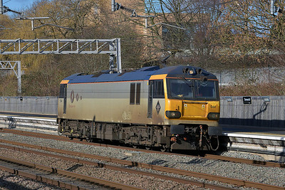 Class 92 No 92044 at Tamworth on 19 February 2014 with the 0Z94 10:06 Crewe Basford Hall S.S.M. – Rugby