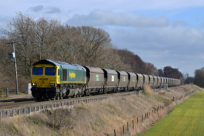 Class 66 No 66953 at Heck Ings Crossing on 21 February 2014 with the 4G11 12:40 Drax Power Station – Sudforth Lane Up Rs