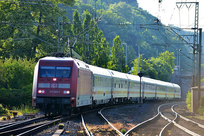 Class 101 No 101086 at Remagen on 14 June 2014