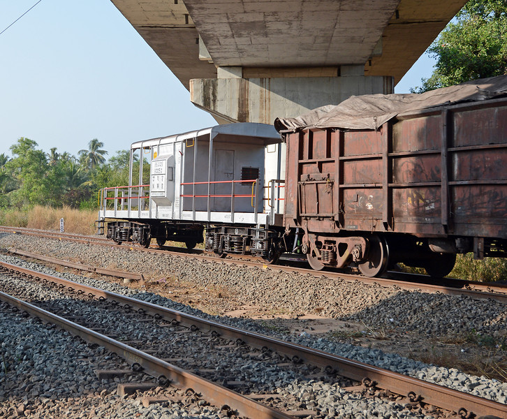 At the rear of the train was this caboose/guards van, running on passenger car trucks