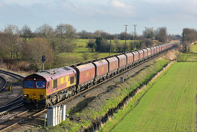 Class 66 No 66139 at Whitley Bridge on 16 January 2014 with the 4A84 10:45 Drax Power Station – Milford West Sidings