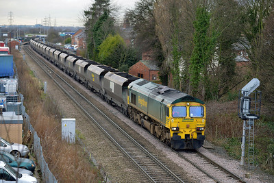Class 66 No 66531 at Whitley Bridge on 16 January 2014 with the 6B53 09:43 Redcar High Level – Drax Power Station