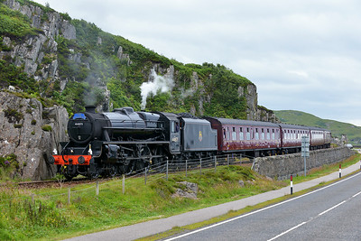 Class 5MT No 44871 at Mallaig on 3 July 2014 with the 2Y68 14:40 Fort William – Mallaig