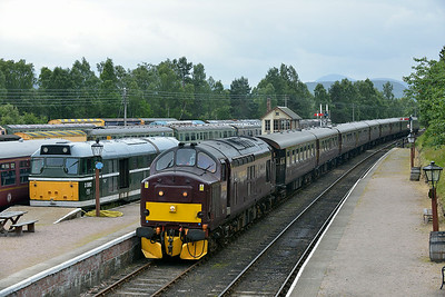Class 37 No 37685 at Boat of Garten on 2 July 2014 with the 5H81 15:56 Carrbridge – Boat of Garten