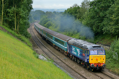 Class 47 No 47810+57308 at Normanton on 5 July 2014 with the 5Z19 06:12 Crewe H.S. – Leeds