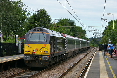 Class 67 No 67006+67027 at Sandal & Agbrigg on 5 July 2014 with the 5Z70 04:30 Wembley Inter City Depot – Leeds