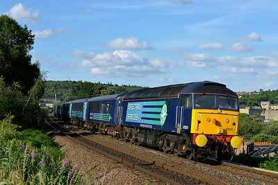 Class 47 No 47841+47853 at Dewsbury on 5 July 2014 with the 1Z82 16:50 Scarborough – Liverpool Lime Street