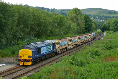 Class 37 No 37259+37610 at Dingwall on 1 July 2014 with the 18:02 Inverness Freight Sidings – Achnasheen