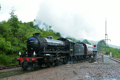 Class K1 No 62005 at Glenfinnan on 4 July 2014 with the 2Y61 10:15 Fort William – Mallaig