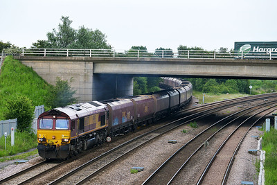 Class 66 No 66037 at Thorne Junction on 11 June 2014 with the 6F75 16:45 Hull Coal Terminal – Cottam Power Station
