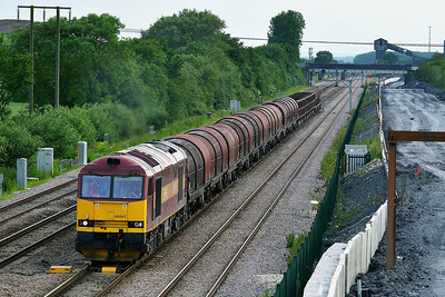 Class 60 No 60065 at Thorne Junction on 11 June 2014 with the 6E08 11:04 Wolverhampton Steel Terminal - Immingham Sorting Sidings
