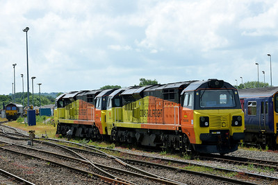 Class 70 No 70804/70805 at Westbury on 7 June 2014