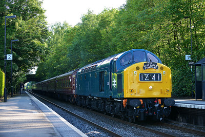 Class 40 No 345 (40145) at Barnt Green on 7 June 2014 with the 1Z41 16:50 Oxford - Castleton Hopwood Gf