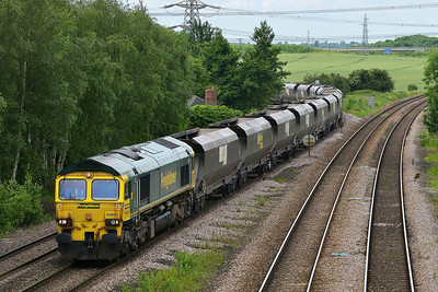 Class 66 No 66603 at Burton Salmon on 13 June 2014 with the 4N70 10:57 Drax Power Station – Redcar High Level