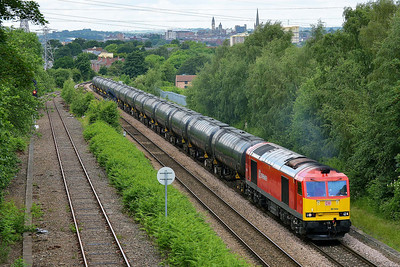 Class 60 No 60044 at Oakenshaw Junction on 11 June 2014 with the 6E32 08:55 Preston Dock Lanfina – Lindsey Oil Refinery