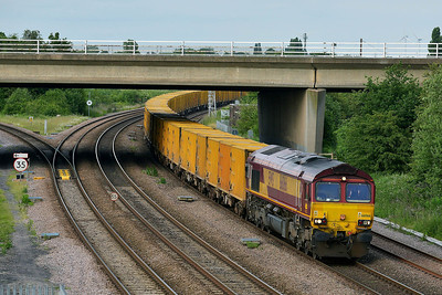 Class 66 No 66066 at Thorne Junction on 11 June 2014 with the 6V04 18:59 Scunthorpe F.D. – Southall T.C.