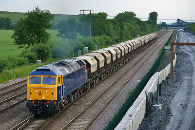 Class 47 No 47843 at Thorne Junction on 11 June 2014 with the 6E88 12:39 Middleton Towers – Goole Glassworks