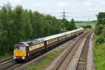 Class 47 No 47832+47853 at Burton Salmon on 13 June 2014 with the 1Z63 09:01 Stoke-on-Trent – York
