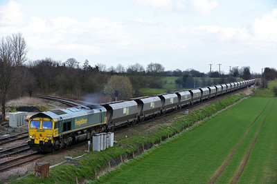 Class 66 No 66546 at Whitley Bridge on 21 March 2014 with the 4S15 12:57 Drax Power Station – Hunterston High Level
