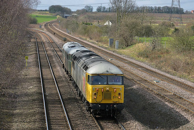 Class 56 & 31 No 56311/31452 at Burton Salmon on 21 March 2014 with the 0Z56 09:00 Derby Gas Tanks Sidings – Wolsingham