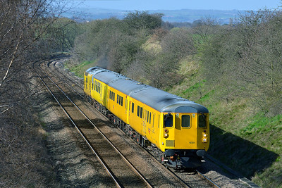 DBSO No 9701 and Class 37 No 97301 at Sharlston on 21 March 2014 with the 1Q14 09:22 Neville Hill T&RSD – Derby R.T.C.