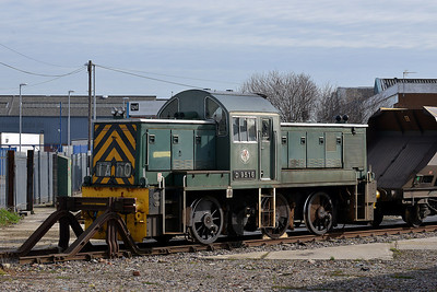 Class 14 No D9516 on Midland Road Depot on 5 March 2014