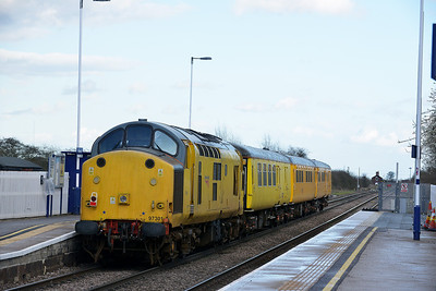 Class 37 No 97301 at Hensall on 21 March 2014 with the 1Q14 09:22 Neville Hill T&RSD – Derby R.T.C.