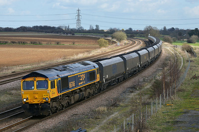 Class 66 No 66746 at Burton Salmon on 21 March 2014 with the 6C09 08:45 Immingham H.I.T – Eggborough Power Station