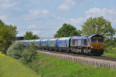 Class 66 No 66726 at Heck Ings Crossing on 14 May 2014 with the 6H30 09:45 Tyne Coal Terminal – Drax Power Station