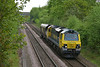 Class 70 No 70006 at Oakenshaw Junction on 7 May 2014 with the 6Z71 08:18 Garston (Merseyside) – Leeds Balm Road Loco