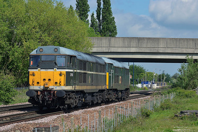 Class 31 No 31190/31601 at Sherburn-in-Elmet on 14 May 2014 with the 0Z32 09:10 York Leeman Road Sidings - Butterley M.R.C.