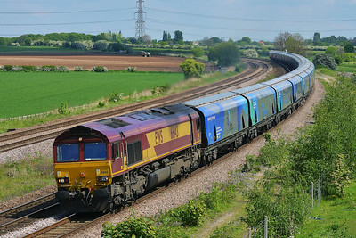 Class 66 No 66143 at Burton Salmon on 14 May 2014 with the 6H84 08:38 Hull Biomass Lp – Drax Power Station