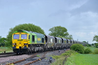Class 66 No 66522 at Gascoigne Wood on 12 May 2014 with the 6M49 08:00 Hull Kingston Terminal – Rugeley Power Station