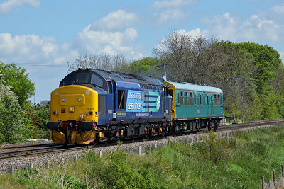 Class 37 No 37425 at Heck Ings Crossing on 14 May 2014 with the 2Z02 08:57 York – York