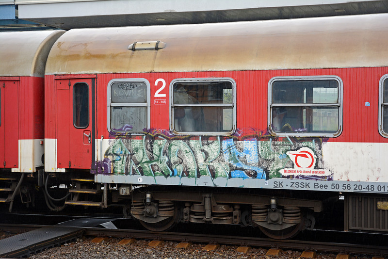 ZSSK does its best to remove graffiti but not always successfully.