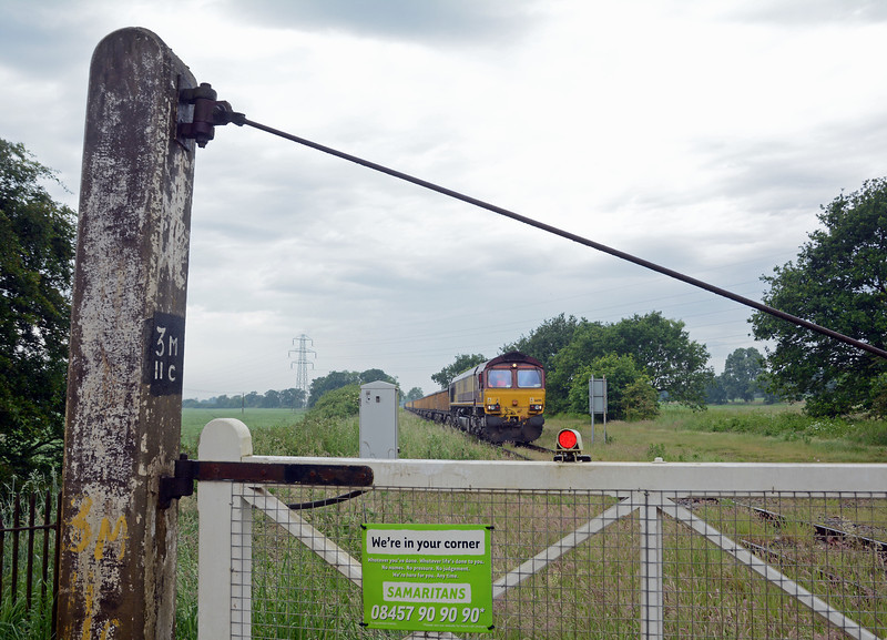The level crossing is a reminder of the lines Great Eastern heritage.