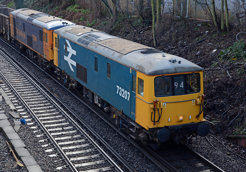 Almost 50 years old, their EE546 traction motors were singing as they accelerated away from a signal check, thanks to a late running Overground train.